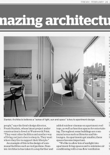 Stanisic Architects published in the Sydney Morning Herald